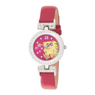 SpongeBob SquarePants Women's SBP352 Silver Case Pink Strap Analog Watch Watches