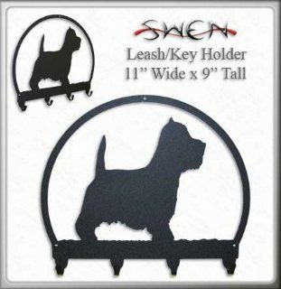 WESTIE TERRIER Metal Key Chain Hanger   Leash Holder   Key Hooks
