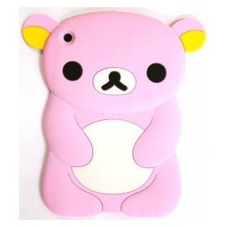 Best2buy365 Cute 3D Lovely Cartoon Bear Silicone Soft Skin Case Cover For ipad mini pink Computers & Accessories