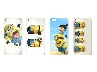 Wholesales 4pcs Despicable Me Cartoon Fashion Back Cover Case Skin for Apple Iphone 5 5s 5g 5th Generation i5dm4001 Cell Phones & Accessories