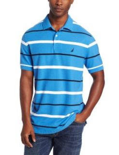 Nautica Men's Striped Performance Deck Polo, Orange, L at  Men�s Clothing store