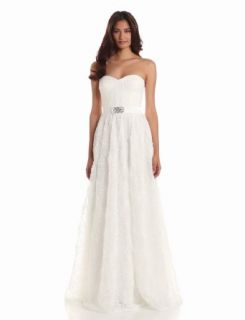 Adrianna Papell Women's Strapless Embellished Tulle Gown