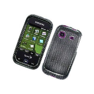 Samsung Trender M830 SPH M380 Black Carbon Fiber Print Cover Case Cell Phones & Accessories