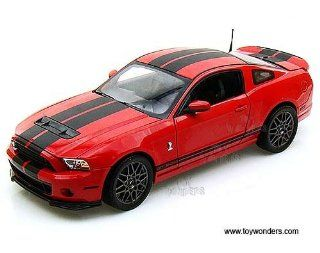 Sc391r Shelby   Ford Shelby Gt500 Hard Top (2013, 118, Red w/ Black Stripes) Sc391 Diecast Car Model Auto Vehicle Automobile Metal Iron Toy Toys & Games