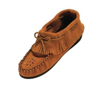 Epparel Place Women's Indian Tan Suede Moccasin Shoes