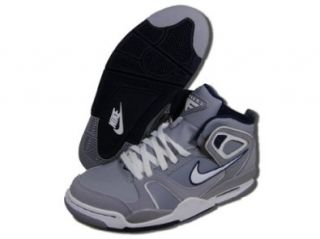 Nike Air Flight Falcon Basketball Shoes Gray/White/Navy Blue Shoes