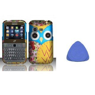 Combo 2 packs, Snap On Hard Crystal Protector Cover Case For Samsung S390G   Owl + Cases Opening Tool Cell Phones & Accessories