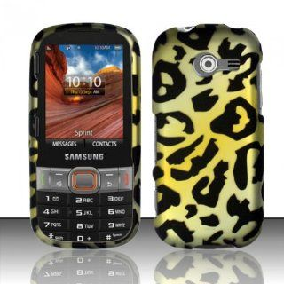 Yellow Cheetah Hard Cover Case for Samsung Array Montage SPH M390 Cell Phones & Accessories