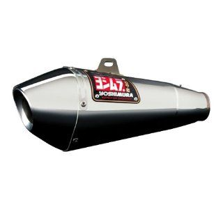 Yoshimura R55 Slip On   Stainless Steel Muffler   Stainless Steel End Cap , Material Stainless Steel 1362285 Automotive