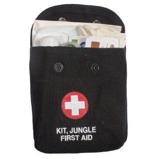Black Jungle First Aid Kit  Camping First Aid Kits  Sports & Outdoors