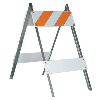 "Jackson Safety 17619 Type 1 Wood/Steel Engineer Grade Barricade, 24"" Length x 6"" Width x 8"" Height Science Lab Safety Supplies"