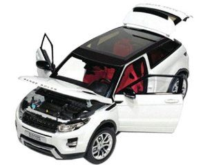 Range Rover Evoque White With Black Roof 1/18 by Welly 11003 Toys & Games