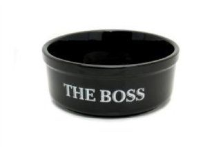 The Boss Black Dog Bowl 20 X 8Cm  Pet Bowls