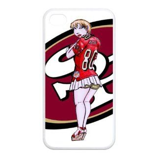 NFL Personalized & Funny San Francisco 49ers Logo Cartoon Style Case for iPhone 4, 4s��white�� Cell Phones & Accessories