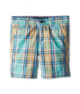 Tommy Hilfiger Kids Burke Plaid Short Boys Casual Pants (Blue)