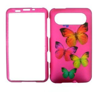 HTC HD7 PINK BUTTERFLY HARD PROTECTOR COVER CASE/SNAP ON PERFECT FIT Cell Phones & Accessories
