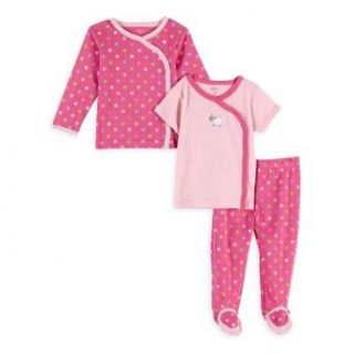"Carter's Girls 3 piece Cotton Knit ""Pink Polka Dot Lamb"" Bring Me Home Outfit (6 Months) Infant And Toddler Clothing Sets Clothing"