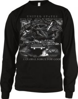 US Navy, A Global Force For Good Mens Thermal Shirt, United States Navy Men's Thermal Clothing