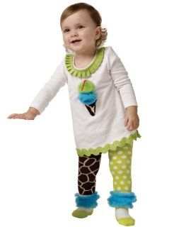 Little Girls Giraffe Print Tunic Dress and Girls Tights (12 18 Months) Clothing