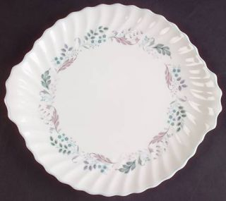 Royal Doulton Glen Auldyn Handled Cake Plate, Fine China Dinnerware   Montrose,