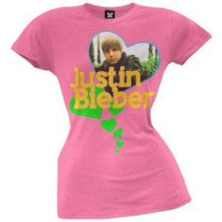 Justin Bieber   Girls Photo Heart Juvy Girls T shirt Clothing
