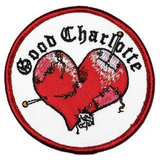 Good Charlotte Stitched Heart Logo Rock Roll Music Band Embroidered Iron On Applique Patch p1008