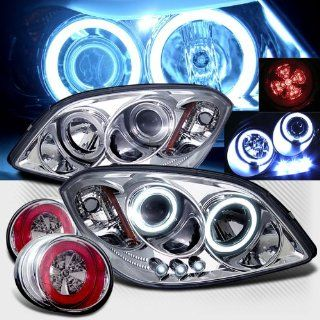 Rxmotoring 2007 Chevy Cobalt Projector Ccfl Halo Headlights + Led Tail Light Automotive