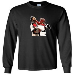 "Jason Varitek Boston Red Sox ""AROD FIGHT"" LONG SLEEVE T SHIRT Clothing"