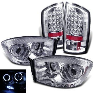 Rxmotoring 2009 Dodge Ram 3500 Projector Headlight + Led Taillight Automotive