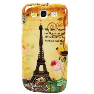 niceEshop(TM) Retro Paris Eiffel Tower Patterned Snap on Hard Case Cover for Samsung Galaxy S3 III i9300 +Screen Protector Cell Phones & Accessories