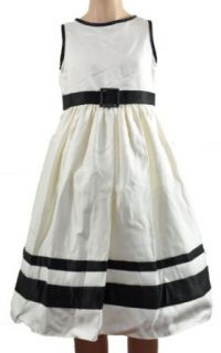 Winter White & Black Girls Dress Special Occasion Dresses Clothing