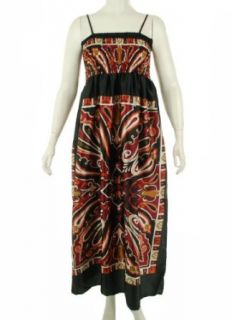 India Boutique Print Sleeveless Dress Black Multi 1X