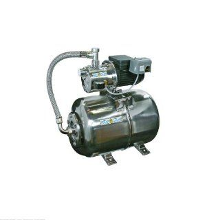 3/4Hp Stainless Steel Jet Pump With 6.5 Gal Stainless Steel Tank Package 506547SS  Sump Pumps  Patio, Lawn & Garden