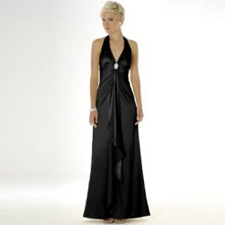 Satin Evening Dress   Bridal, Wedding, Party, Prom Dress, Formal Gown by Sean Collection (448) Black XL