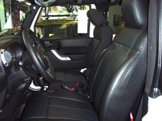 2013 Jeep Wrangler 4 Door Sport/Sahara/Rubicon Clazzio Leather Seat Covers   Black   Full Set   Front and Rear Row Automotive