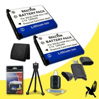 Two Halcyon 1200 mAH Lithium Ion Replacement EN EL10 Battery + Memory Card Wallet + SDHC Card USB Reader + Deluxe Starter Kit for Nikon Coolpix S200, S210, S220, S230, S3000, S4000, S500, S510, S520, S570, S5100, S60, S600, S700 Digital Cameras and Nikon E