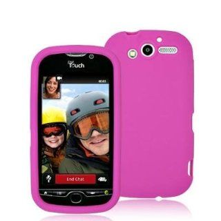 Hot Pink Silicone Rubber Gel Soft Skin Case Cover for HTC T Mobile Mytouch 4G Phone by Electromaster Cell Phones & Accessories