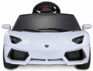 Low price of Lamborghini Aventador cars ride on car in white color Toys & Games