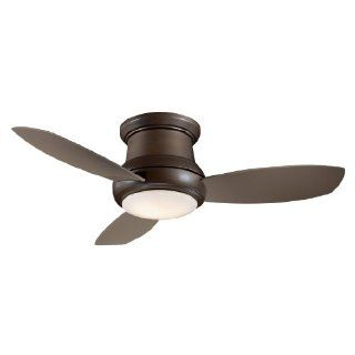 Minka Aire F519 ORB 52 inch Concept II Flush Mount Ceiling Fan, Oil Rubbed Bronze with Taupe Blades