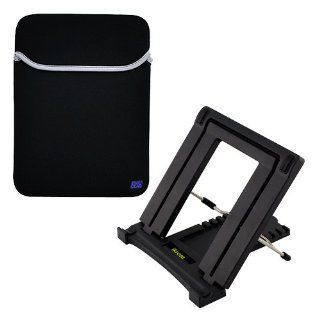 iKross Portable Folding Travel Stand plus Neoprene Sleeve Carrying Case for 10 inch Tablets Asus VivoTab RT TF600T, Transformer Pad Infinity TF700T, TF300, TF201; Apple ipad, Samsung, Acer, Toshiba 10 inch Tablet Computers & Accessories