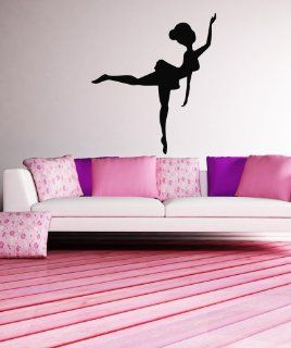 Vinyl Wall Decal Sticker Ballerina Silhouette OS_MB475B   Wall Decor Stickers