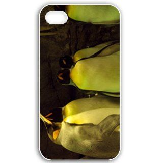 Apple iPhone 4 4S Cases Customized Gifts For Animals Sleeping Penguins Wide Birds Animals White Cell Phones & Accessories