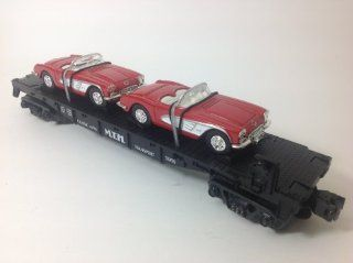 MTH RAIL KING, 30 7624, MTH AUTO TRANSPORT FLATCAR WITH ERTL '64 CORVETTES Toys & Games