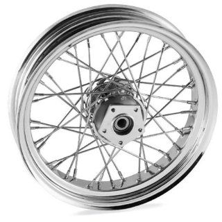 Bikers Choice 16 x 3.5in. Belt Driven Rear Wire Wheel   40 Spoke , Color Chrome, Position Rear, Rim Size 16 M16321336 Automotive