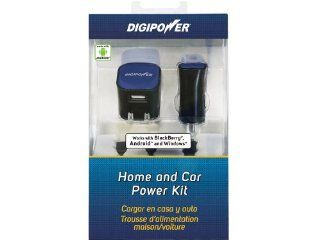 DigiPower SP PK501 Smartphone Home and Car Charger Kit with 1 Amp Rapid Wall and Car Chargers for Android, BlackBerry and Windows Smartphones   Retail Packaging   Black Cell Phones & Accessories