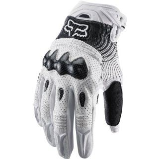 Fox Racing Bomber Vortex Men's Off Road/Dirt Bike Motorcycle Gloves   White/Black / 2X Large Automotive