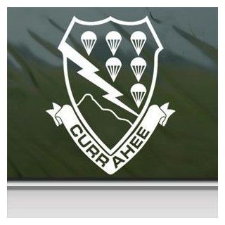 506 Pir 101 Airborne Currahee White Sticker Decal Car Window Wall Macbook Notebook Laptop Sticker Decal Automotive