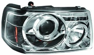 IPCW CWS 507C2 Ford Ranger Chrome Projector Head Lamp with Rings   Pair Automotive