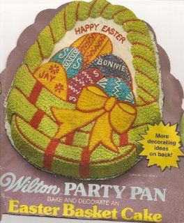 Wilton Cake Pan Easter Basket with Eggs (502 1727, 1980) Kitchen & Dining