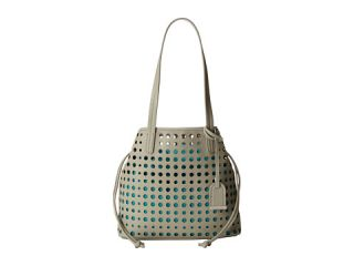 Kenneth Cole Reaction Holed Out Medium Shopper Dove/Lagoon